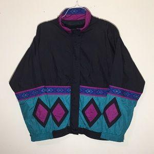Vintage 1990s Lavon Tribal Diamonds Windbreaker